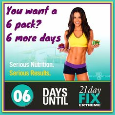 You want a six pack? You need to eat like you want it. I'm not saying starve yourself for the rest of your life. If you follow the proven nutrition and portion plan of the new 21 Day Fix Extreme program you will see amazing results!  ⠀ The point is….you can do it for 21 days, you will LOVE how flat your stomach gets, and how lean you look and feel. ⠀ There's tons of protein and you are actually eating a lot on this plan. Plus you are working out 30 minutes a day - hardcore…