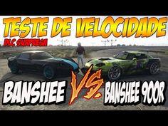 GTA V TESTE DE VELOCIDADE - BANSHEE LOS SANTOS X BANSHEE 900R BENNYS #PS...