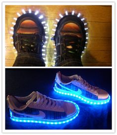 How to make cool DIY LED shoes step by step tutorial instructions