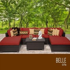 Home Makeover  TKC Belle 7 Piece Outdoor Wicker Patio Furniture Set -- This is an Amazon Associate's Pin. Find out more on Amazon website by clicking the image.
