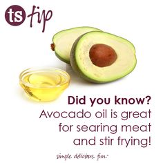 Avocado oil is great for searing meat and stir frying. Balsamic Vinegar Of Modena, Aged Balsamic Vinegar, Great Recipes, Healthy Recipes, Diabetic Recipes, Healthy Meals, Recipe Ideas, Searing Meat, Tastefully Simple Recipes