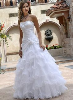 Robe de mariée Princesse orné de perle