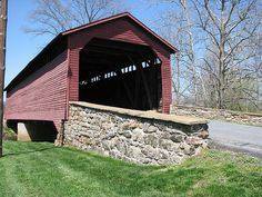 Utica Mills Covered Bridge, near Thurmont Md. One of 3 historic covered bridges in Frederick County, all built in the mid-1800's.