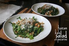 tuscan kale salad with pecorino by shutterbean, via Flickr. this is sooo good and my kids love it!