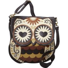 Amazon.com: Loungefly Embroidered Owl Faux Leather Vegan Cross Body Shoulder Bag Purse: Loungefly: Clothing