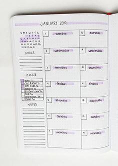 Bullet journal weekly layout idea. Bullet Journal School, Bullet Journal Doodles, Bullet Journal Planner, Bullet Journal Cover Page, Bullet Journal Notebook, Bullet Journal Themes, Bullet Journal Spread, Bullet Journal Inspo, Bullet Journal Ideas Templates