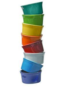 Fiestaware Ramekins - my favorite baking dish Tupperware, Fiesta Kitchen, Rainbow Kitchen, Bowls, Color Of The Week, Kitchen Items, Kitchen Colors, Lemon Grass, Rainbow Colors