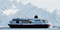 Hurtigruten - 120 years of coastal voyages. The perfect opportunity to explore Norway, Greenland, Iceland, Antarctica and Europe. Contact me to sail! Lofoten, Kirkenes, Cruise Reviews, Midnight Sun, Travel Planner, Antarctica, Water Crafts, Great Photos, Vacation