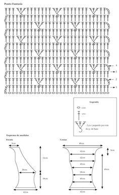 Tendências 2012   Crochet: looks e vestidos de arrasar, veja gráficos com receitas