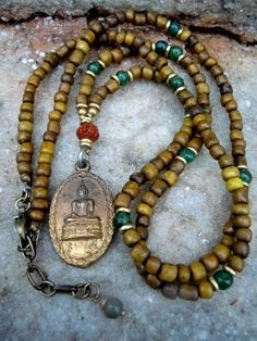 Yoga Necklace / Mala Necklace / Buddha Necklace / Men by Syrena56, $39.00