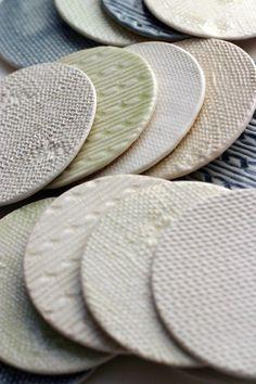 knitwear coasters #Ceramic #Pottery