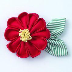 kanzashi flower - Flor kanzashi de tela