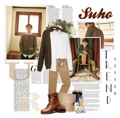 """Suho - Warm Winters"" by lgmrkm ❤ liked on Polyvore featuring Anja, Avenue, Jayson Home, Lemaire, Versace, Polo Ralph Lauren, Samsung, men's fashion and menswear"