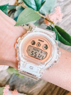 Shop women's digital watches from G-SHOCK. G-SHOCK is the trusted brand for tough, water resistant digital watches for sport, dress, and street. S Shock, Time Zones, Casio Watch, Watches, My Style, Women, Clocks, Bangle Bracelets, Watch