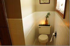 Painting bathroom tiles