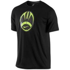 Nike Football Graphic T-Shirt - Men's - Football - Clothing - Black/Carbon Heather