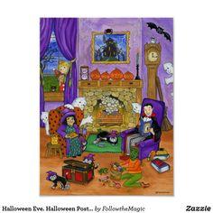Halloween Eve. Halloween Poster for kids. Halloween Eve, Halloween This Year, Halloween Poster, First Halloween, Halloween Design, Halloween Costumes, Halloween Stories For Kids, Countdown Calendar, Advent Calendars