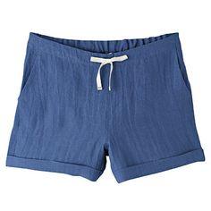 麻平織ショートパンツ 婦人M・スカイブルー 清涼感が心地よい麻100%の生地を使用しています。洗いをかけてしなやかな肌触りに仕上げました。 税込 2,980円
