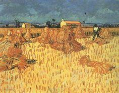 """Painting """"Harvest in de Provence"""" by Vincent van Gogh - www.schilderijen.nu"""