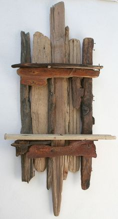 Repurpose Driftwood To Use As Decorative Shelves
