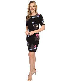 Ellen Tracy Elbow Sleeve Sheath Dress