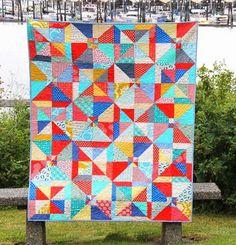 Super Easy Summer Slice Quilt Pattern | FaveQuilts.com