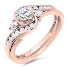 0.90 Carat (ctw) 10k Rose Gold Round Diamond Ladies Swirl Bridal Engagement Ring Matching Band Set (Size 5) DazzlingRock Collection,http://www.amazon.com/dp/B00I1BOEHU/ref=cm_sw_r_pi_dp_lK2vtb024NGSTZTT
