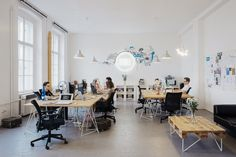 Really great site for office decor - Bubble Office Design Prague Small Office Design, Office Interior Design, Office Interiors, Open Office, Cool Office, Commercial Interior Design, Commercial Interiors, Bubble, Office Workspace