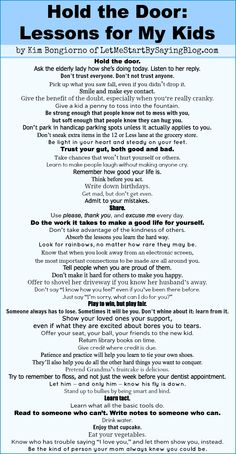 Rules for Life! Gonna make this a canvas and highlight the majors!!!