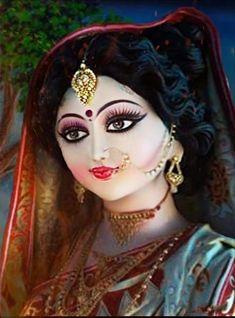 Durga Maa, Durga Goddess, Mata Rani, Halloween Face Makeup