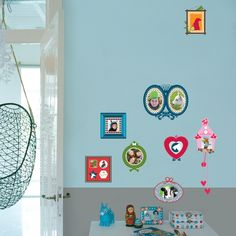 Colorful Photo Frames Wall Decals