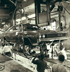 Beauty in the making. Charger on the assembly line.