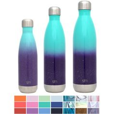 Simple Modern 34 oz Wave Water Bottle - Stainless Steel Hydro Swell Flask - Wide Mouth Metal Double Wall Vacuum Insulated Reusable Aluminum 1 Liter in 32 Colors Cold Leak Proof - Tropical Seas, Blue Sensory Bottles Preschool, Sensory Wall, Sensory Boards, Swell Water Bottle, Cool School Supplies, Infant Art, Infant Room, Preschool Lesson Plans, Insulated Water Bottle