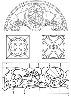 162 Traditional and Contemporary Designs for Stained Glass Projects 1 - Dover Publications