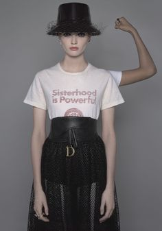 As an ode to sorority, the 'Sisterhood is Global' and 'Sisterhood is Powerful' T-shirts pay homage to the works of American feminist poet Robin Morgan.