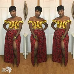 Crop-Top  ~DKK ~African fashion, Ankara, kitenge, African women dresses, African prints, African men's fashion, Nigerian style, Ghanaian fashion.