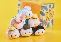 A new Donald Duck Short Film Tsum Tsum box set is coming to Japan. The collection features six Donald Tsum Tsums from various films and will release online in Tsum Tsum Sets, Disney Tsum Tsum, Disney Rides, Disney Parks, Miss Bunny, Japan Sakura, Cherry Blossom Season, Tsumtsum, 1st Birthday Outfits