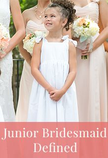 My Wedding Chat: What is a Junior Bridesmaid? | The Duties & Dresses