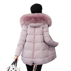 31540fce8b4 New arrival 2018 High Quality winter jacket women plus size big fur collar  thick women coat