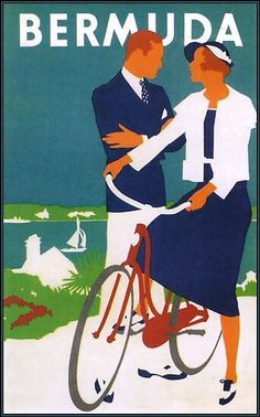Travel-Bermuda-Vintage-Poster-Art-Print-Retro-Style-Tourism-Travel-Advert