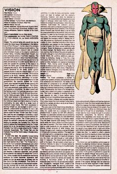 The Official Handbook of the Marvel Universe Issue - Read The Official Handbook of the Marvel Universe Issue comic online in high quality Marvel Comic Character, Comic Book Characters, Marvel Characters, Comic Books Art, Comic Art, Marvel Dc, Marvel Comic Universe, Comics Universe, Dc Comics Superheroes