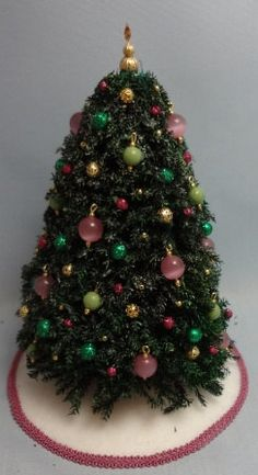 Handmade Flocked Pine Christmas Tree