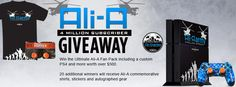 Win the Ultimate #AliAarmy Fan Pack worth over $500 including a custom PS4, commemorative t-shirt, limited edition sticker and autographed @OMGitsAliA gear!