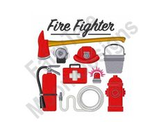Embroidery Machines For Sale, Machine Embroidery Designs, Embroidery Applique, Embroidery Patterns, Firefighter Gear, Truck Design, Image List, The Design Files, Satin Stitch