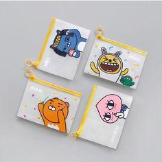 Kakao Friends Official Goods PVC Clear Pouch Makeup bag Ryan Apeach Muzi Neo 110 #Pouch