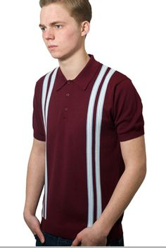 Mod Knitted Polo - Leigh - Deep Red