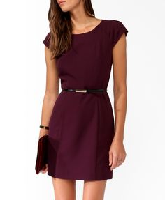 Pleated Sleeve Dress w/ Belt | FOREVER21 - 2030187512