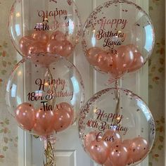 Personalised Balloons & Gifts by Balloonzest on Etsy Birthday Balloon Decorations, Birthday Balloons, Gold Party Decorations, Balloon Centerpieces, 18th Birthday Party, Birthday Celebration, Personalized Balloons, Balloon Gift, Balloon Bouquet