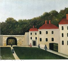 Promeneurs dans un Parc, Henri Rousseau Medium: oil,canvas Henri Rousseau Paintings, Palazzo, Oil Canvas, Jardin Des Tuileries, Avant Garde Artists, Camille Pissarro, Grand Palais, Art Moderne, Naive Art