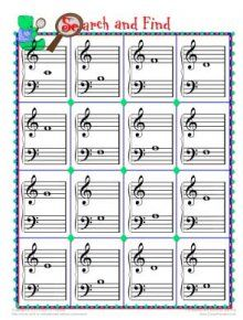 piano teaching resources - games and printables